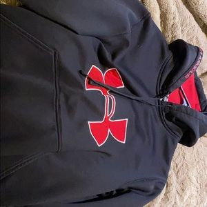 Black and red under armor hoodie